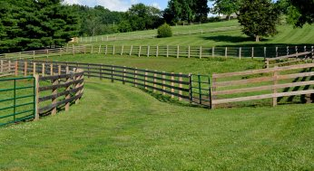 several divided pastures-small